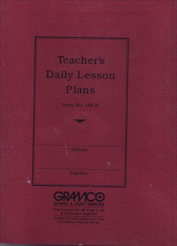 Teachers Duplicate Plan Book 8 Periods 9 1 2 X 12 100 Sheets 106 8d