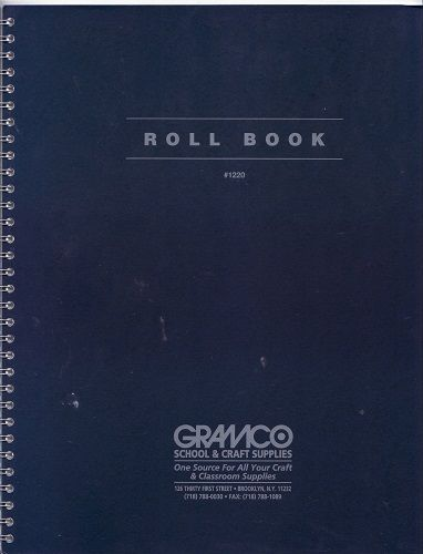 teachers roll book 11 by 8 1 2 30 sheets