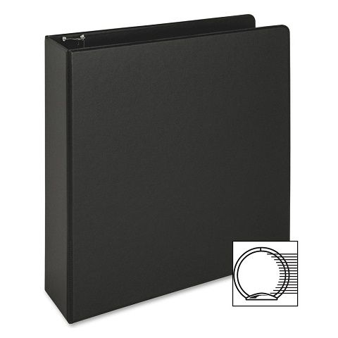 3 ring vinyl binder 2 inch ring size black 11 x 8 5 inches