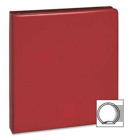 3-Ring Vinyl Binder, 1-Inch Ring Size, Red , 11 x 8 5 Inches