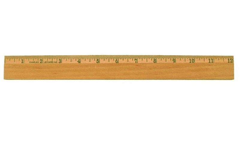 Charles Leonard Inc Office Wood Ruler With Metal Edge 12 Inches
