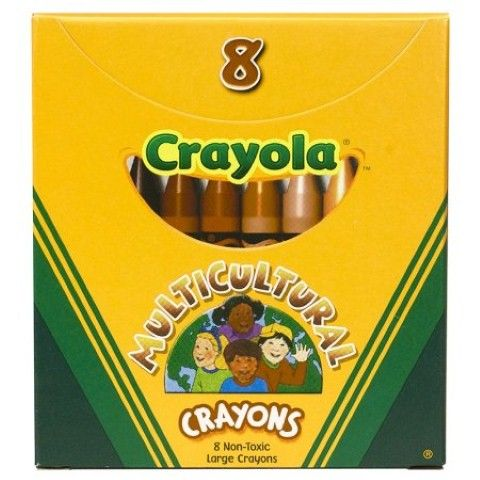 crayola multicultural crayons large 8 skin tone colors 52 080w