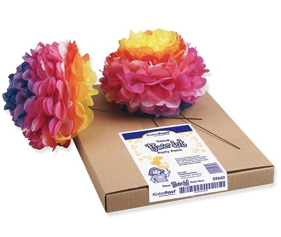 Kolorfast 59660 tissue paper flower kit 10 84 per kit assorted kolorfast 59660 tissue paper flower kit 10 84 per kit assorted colors pac59660 mightylinksfo