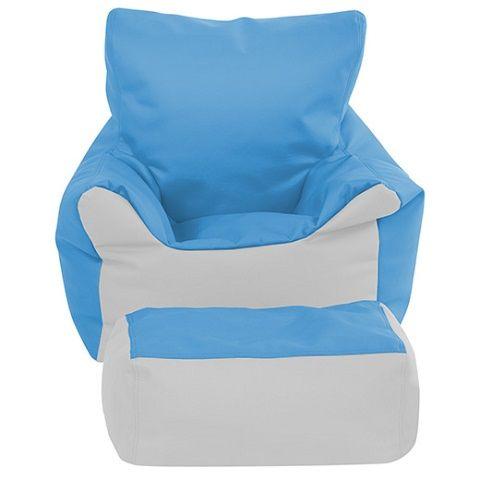 Miraculous Softzone Bean Bag Chair And Ottoman Set Seafoam Light Gray Color Elr 12803 Sflg Interior Design Ideas Ghosoteloinfo