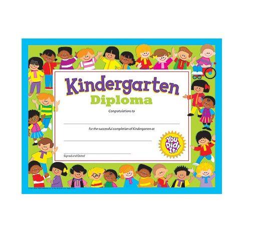"kindergarten diploma pre-k certificates , 30 per pack, 8.5"" x 11"""