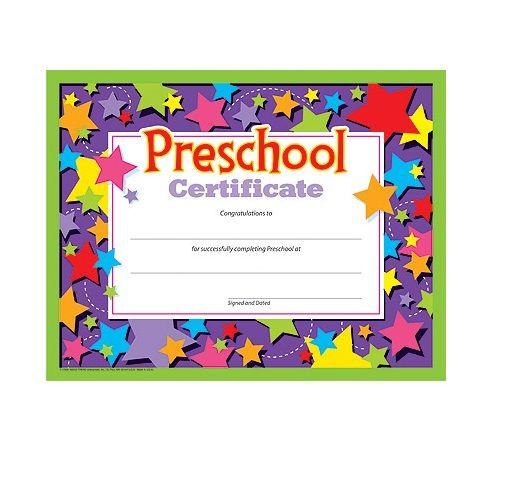preschool diploma pre k certificates 30 per pack 8 5 x 11