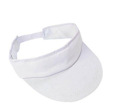 41024720b DIY Value White Cotton Visors To Decorate - 12 pcs.