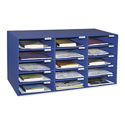 Pacon Classroom Keepers 15-Slot Mailbox, Blue, 001308