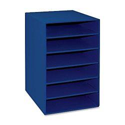 Pacon Classroom Keepers 6-Shelf Organizer, Blue, 001312