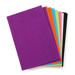 Darice® Sticky Back Stiff Felt Sheets Value Pack -  Bright Colors 18/pkg