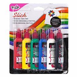 Tulip Slick 3D Fashion Paint, 1.25-Ounce,  00825 Dimensional 6-Pack