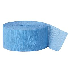81ft Ice Blue Crepe Paper Streamers