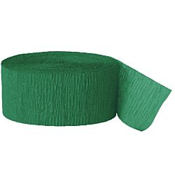 81ft  Emerald Green Crepe Paper Streamers