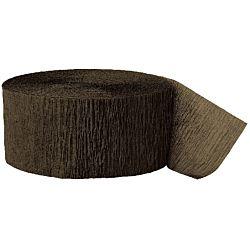 81ft Brown Crepe Paper Streamers