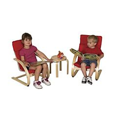 Children's Bentwood Comfort Chair Set with Table ELR-0344