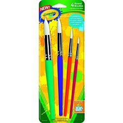 Crayola® Round Paint Brush Set, Non-Toxic, 4/Pack (05-3521)