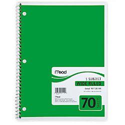Spiral Notebook 1 Subject 10.5