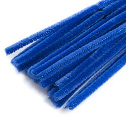 Chenille Stems Pipe Cleaners 12 Inch x 6mm 100-Piece, Blue