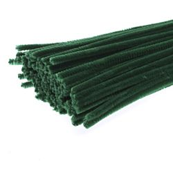 Chenille Stems Pipe Cleaners 12 Inch x 6mm 100-Piece, Dark Green