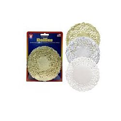 Hygloss Assorted Round Doilies - 4