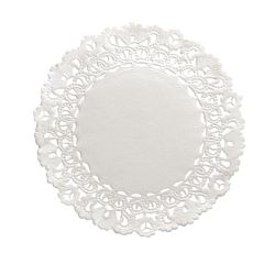 "Hygloss Round Paper Doilies  Decorative, White Lace Doilies, Disposable, 12"" Diameter, 100 Pack"