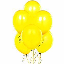 11'' Latex Yellow Color Balloons 144 package