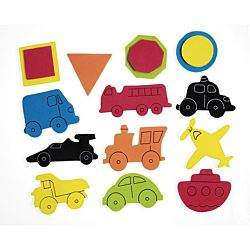 Self-Adhesive Foam Stickers - Cars & Trucks - 5 oz. container