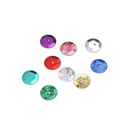 Darice Cup Sequins - 8mm - Assorted Colors 2400 pieces