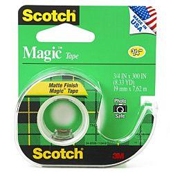 Scotch Magic Tape, 3/4 x 300 Inches, 12 Rolls, 105