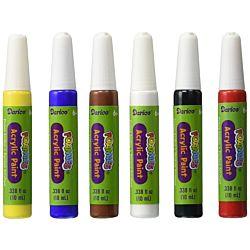 Darice 6-Piece Foamie Primary Paint Colors Marker Set