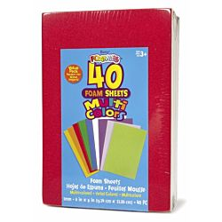 Darice foamis, Foam Sheets, 6 by 9-Inch, Assorted 40-Pack