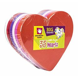 Big Foam Shapes 36/Pkg, Heart