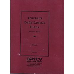 Teachers Duplicate Plan Book, 8 periods, 9 1⁄2