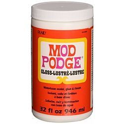 Mod Podge Waterbase Sealer, Glue and Finish 32-Ounce, CS11203 Gloss Finish