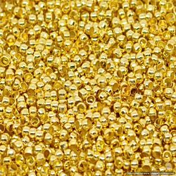 Beadalon Crimp Beads Spacer Stopper 2mm for Jewelry Making Size #1, 144/Pkg, Gold Plated