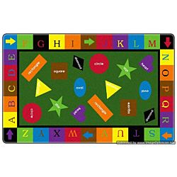 Simple Shapes Kids Educational Rugs 7'6