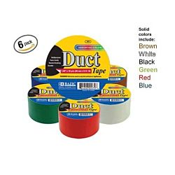 Six Solid Colors Duct Tapes, 1.89