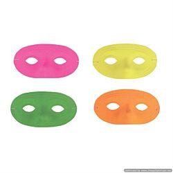 Neon Plastic Half Masks 24 masks per package.