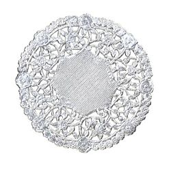 Hygloss 6-Inch Round Silver Doilies, 12-Pack