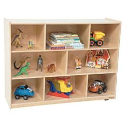 Wood Designs Children Single Storage Natural, 38