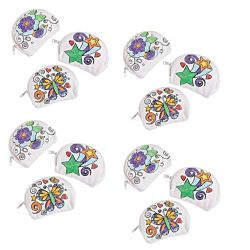 Color Your Own Doodle Coin Purses 12 per package