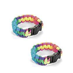 Small Rainbow Paracord Bracelets 7 1/2