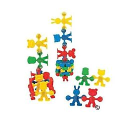 Multicolor Connecting Character Shapes for Dexterity and Creativity ,50 pieces