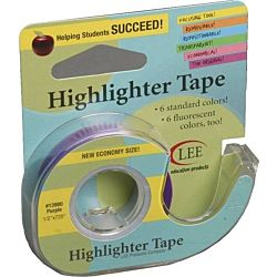 Lee , 1/2-Inch Wide 720-Inch Long Removable Highlighter Tape, Economy Size with Refillable Dispenser, Purple ,13980