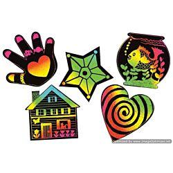 Melissa & Doug Scratch Art Scratchin' Shapes Group Pack Etching Activity  1404