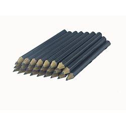 Black Barrel Golf (1/2 a pencil - Pew pencils) Hexagon Pencils without Eraser - 144 pkg - No Eraser - # 2 HB Lead - Sharpened - Non-Branded