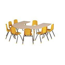 Children's Adjustable Activity Table - Horseshoe 60