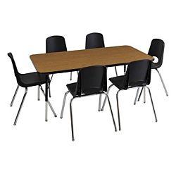 Children's Adjustable Activity Table - Rectangular 30