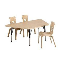 Children's Adjustable Activity Table - Trapezoid 30