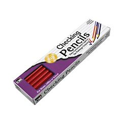 Erasable Checking Pencils, Eraser Tipped, Pack of 12, Red (14259)
